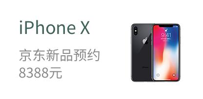 iPhone X   京东新品预约  8388元
